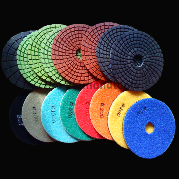 Color line polishing pads
