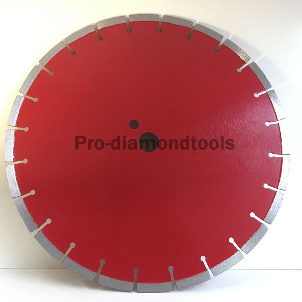 Cured concrete saw blade