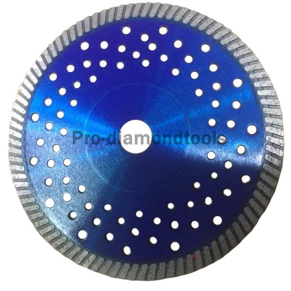 Hot-pressed turbo saw blade 2 with cooling hole